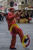 Perfomer della via di Chinesefunyy, Vienna Fotografia Stock
