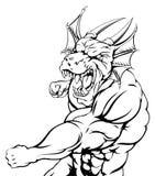 Perforación de la mascota del dragón Imagen de archivo