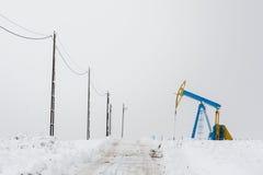 Perforación de la plataforma petrolera Fotografía de archivo