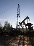 Perforación para el petróleo Imagen de archivo libre de regalías