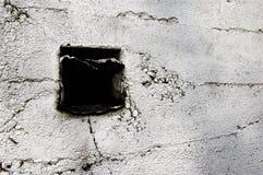 Perforación rectangular en pared Fotografía de archivo
