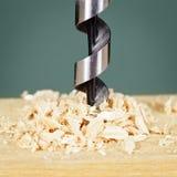 Perforando in legno Fotografie Stock