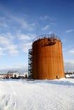 Perforando in Siberia ad ovest Olio immagini stock libere da diritti