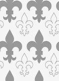 Perforated противопоставил и твердый Fleur-de-lis Стоковая Фотография RF