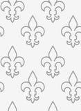 Perforated противопоставил Fleur-de-lis в строке Стоковое Фото