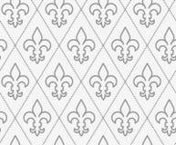 Perforated противопоставил Fleur-de-lis Стоковая Фотография