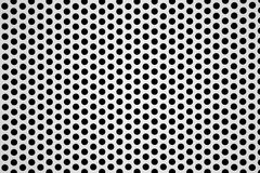 Perforated aluminum sheet background Stock Images