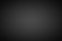 Perforated black metallic background, metal texture vector illustration