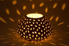 Perforated candle Stock Photography
