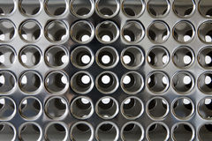 Perforated chrome Stock Photography