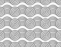 Perforated circles on bulging ribbon royalty free illustration