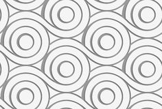 Perforated circles with merging tails Royalty Free Stock Photography