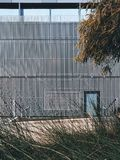 Perforated facade skin of The Liggins Institute in Auckland 2018 stock photo
