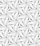 Perforated floral leafy shapes star Royalty Free Stock Photo