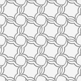 Perforated four foils forming twisted squares Stock Photography