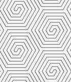 Perforated hexagonal connected spirals Royalty Free Stock Image
