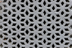 Perforated iron grille Stock Images