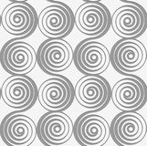 Perforated merging spirals Stock Photography