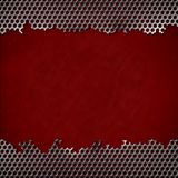 Perforated metal background Stock Photos