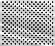 Perforated metal background. Background in form of aluminum sheet with holes Royalty Free Stock Images