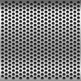 Perforated metal background. Vector illustration Royalty Free Stock Photography