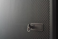 Perforated metal door Stock Photography