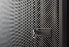 Perforated metal door Stock Photography