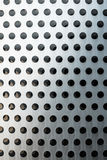 Perforated metal facade detail Royalty Free Stock Images
