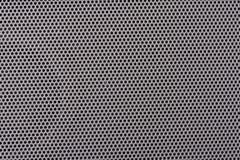 Perforated metal panel. Macro detail microperforated metal panel Stock Photography