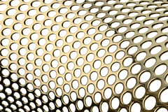 Perforated metal pattern Royalty Free Stock Images