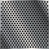 Perforated metal plate. Perforated polished steel metal plate Stock Illustration