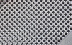 Perforated metal plate Royalty Free Stock Images