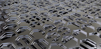 Perforated metal sheets Stock Photography