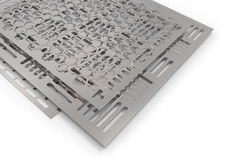 Perforated metal sheets Royalty Free Stock Image