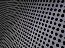 Perforated metallic grid, industrial background. Perforated piece of shiny metal to be used as a background Royalty Free Stock Images
