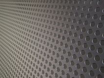 Perforated metallic grid, industrial background. Perforated piece of shiny metal to be used as a background Stock Images