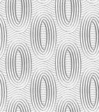 Perforated ovals on continues lines Stock Image