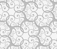 Perforated overlapping many swirls Royalty Free Stock Photo