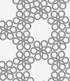 Perforated paper with floral reticulated tile Royalty Free Stock Photography