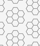 Perforated paper with hexagons forming flowers Stock Image