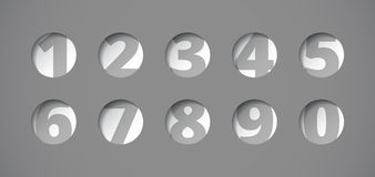 Perforated plate with numbers Stock Photos