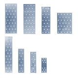 Perforated plates. The set of perforated plates Stock Photos
