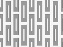 Perforated rectangles. Seamless geometric background. Modern monochrome 3D texture. Pattern with realistic shadow and cut out of paper effect Royalty Free Stock Photography