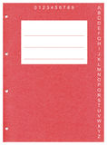 Perforated red covering page Stock Image