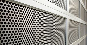 Perforated Security door Stock Photo