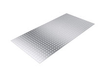 Perforated sheet, 3D rendering, isolated on white background Royalty Free Stock Image