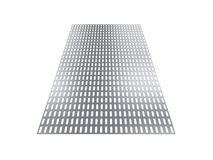 Perforated sheet, 3D rendering, isolated on white background Royalty Free Stock Photography