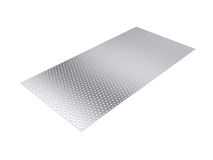 Perforated sheet, 3D rendering, isolated on white background Royalty Free Stock Photo