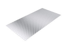 Perforated sheet, 3D rendering, isolated on white background Royalty Free Stock Photos