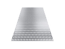 Perforated sheet, 3D rendering, isolated on white background Stock Photos